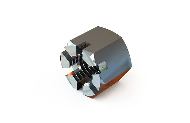 ГОСТ 5918-73 гайка шестигранная прорезная и корончатая класса точности В