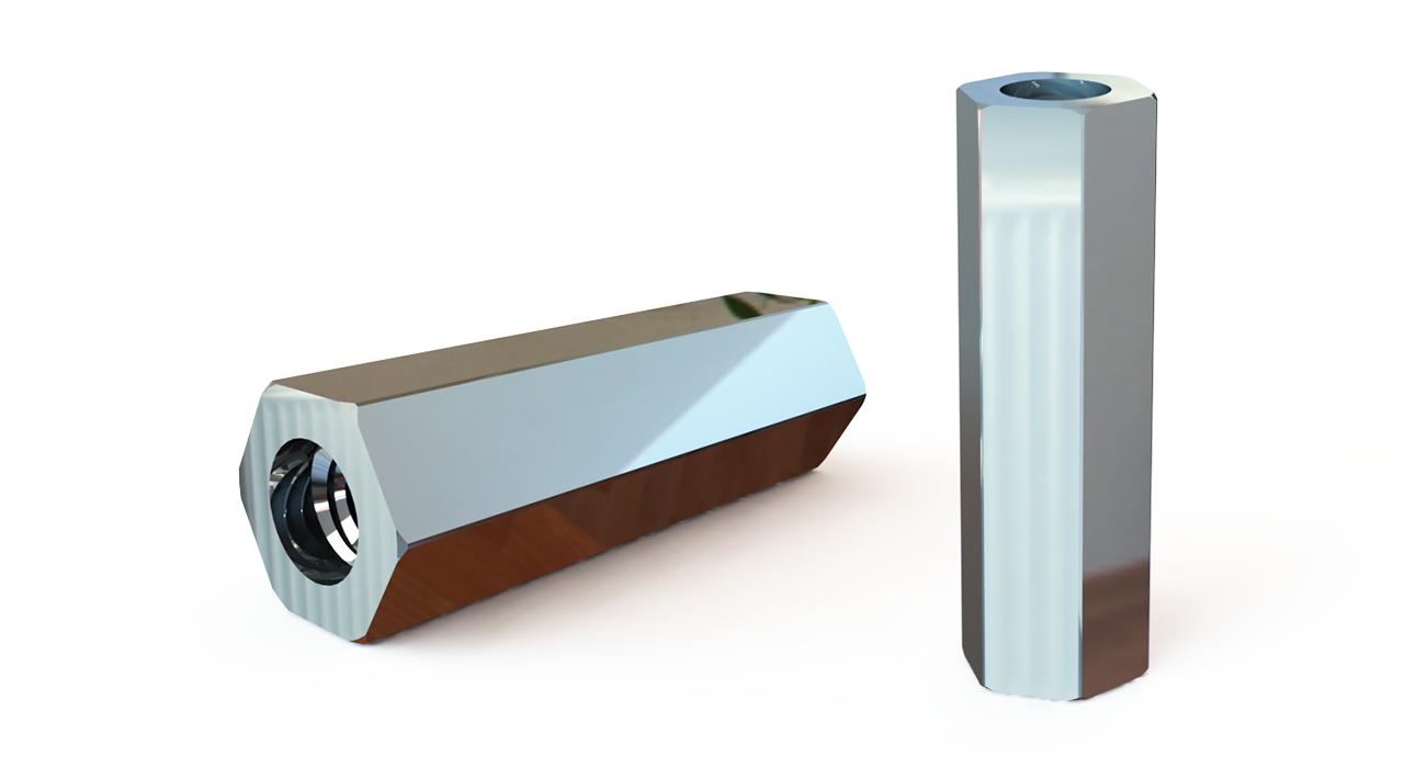 ГОСТ 20865-81 Стойки установочные крепежные шестигранные с резьбовыми отверстиями исполнение 2